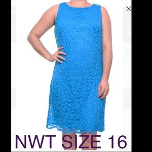 American living size 16 blue dress